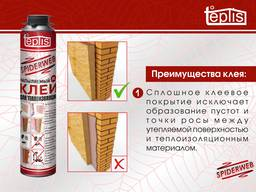 Строительный клей теплоизоляции Teplis Spiderweb /1000 мл - фото 2