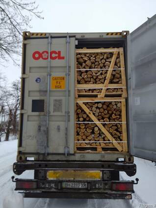 Дрова колотые в Израиль Хайфа экспорт из Украины контейнером