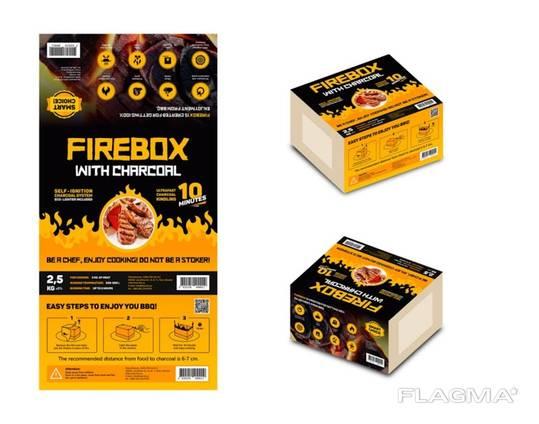 Firebox over charcoal