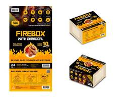 Firebox over charcoal
