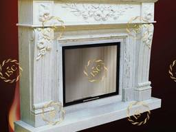 Fireplaces and portals made of natural stones