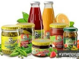 Полуфабрикаты, соки и нектары, овощная консервация